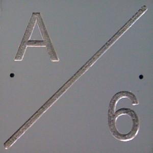 Grey plaque
